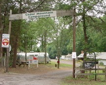 Cedar Mountain Campground - Campground Entrance